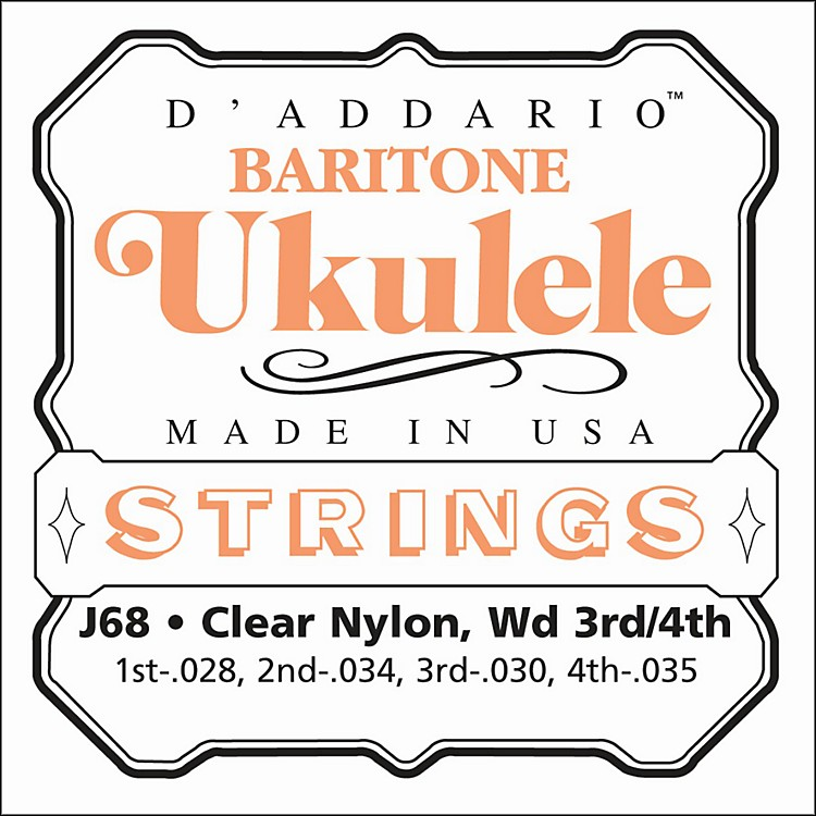 D'AddarioJ68 Baritone Ukulele Strings