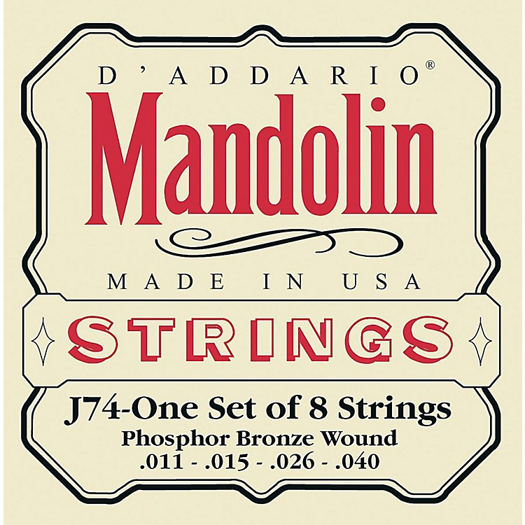 D'Addario J74 Phosphor Bronze Medium Mandolin Strings