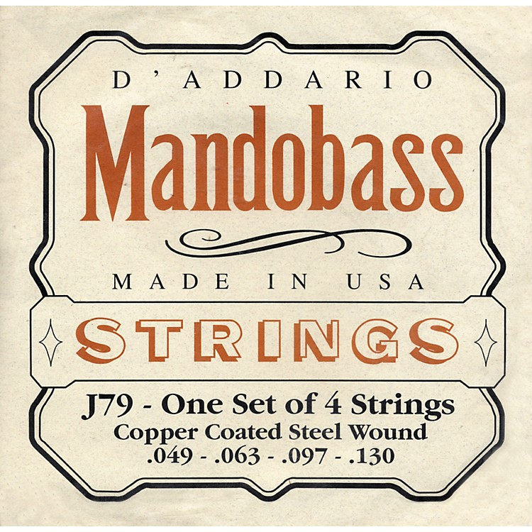 D'Addario J79 Mandobass Copper String Set