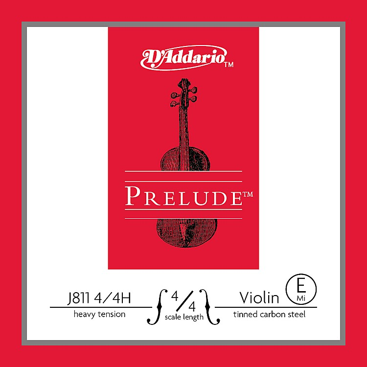D'Addario J811 Prelude 4/4 Violin Single E String Plain Steel Heavy
