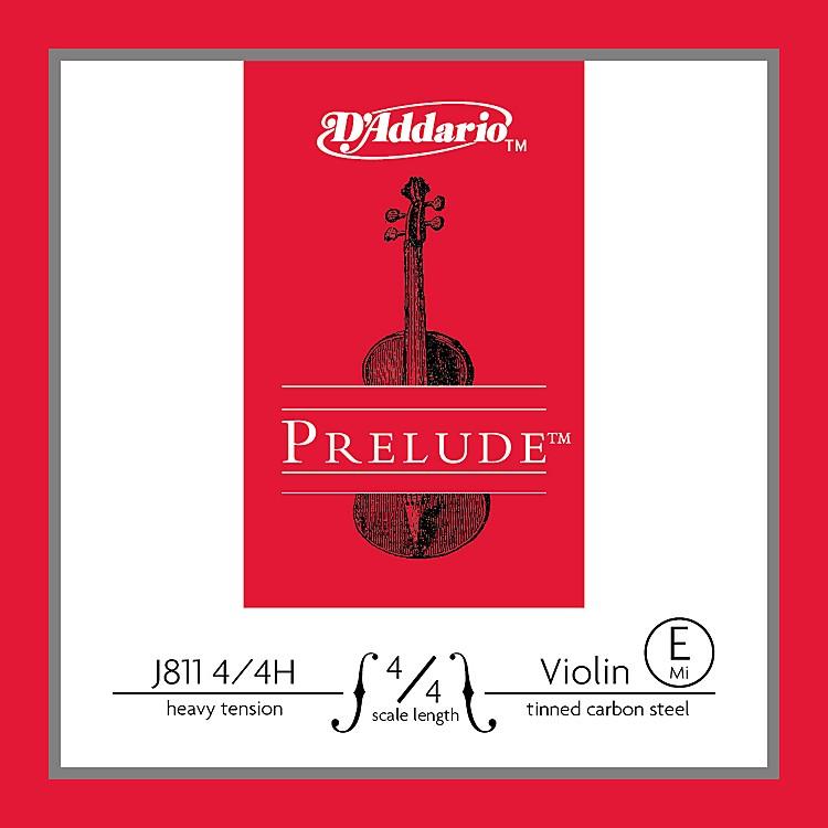 D'AddarioJ811 Prelude 4/4 Violin Single E String Plain SteelHeavy