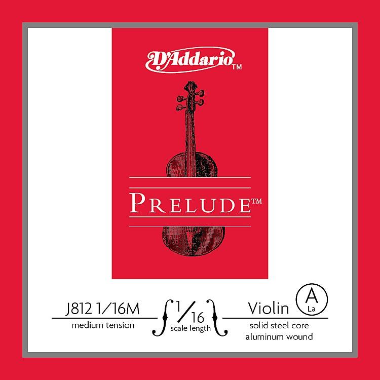 D'AddarioJ812 Prelude 1/16 Violin Single A String Aluminum WoundMedium