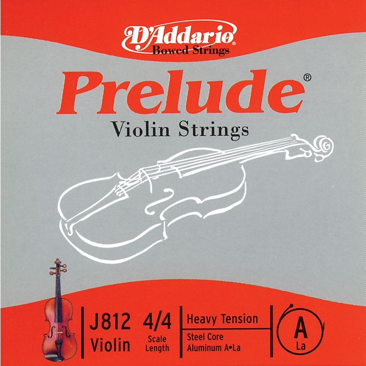 D'Addario J812 Prelude 4/4 Violin Single A String Aluminum Wound