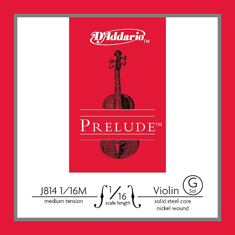 D'Addario J814 Prelude 1/16 Violin Single G String Nickel Wound Medium