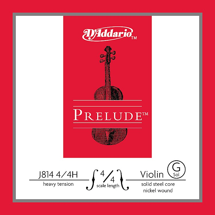 D'Addario J814 Prelude 4/4 Violin Single G String Nickel Wound