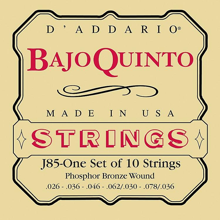 D'AddarioJ85 Phosphor Bronze Bajo Quinto String Set