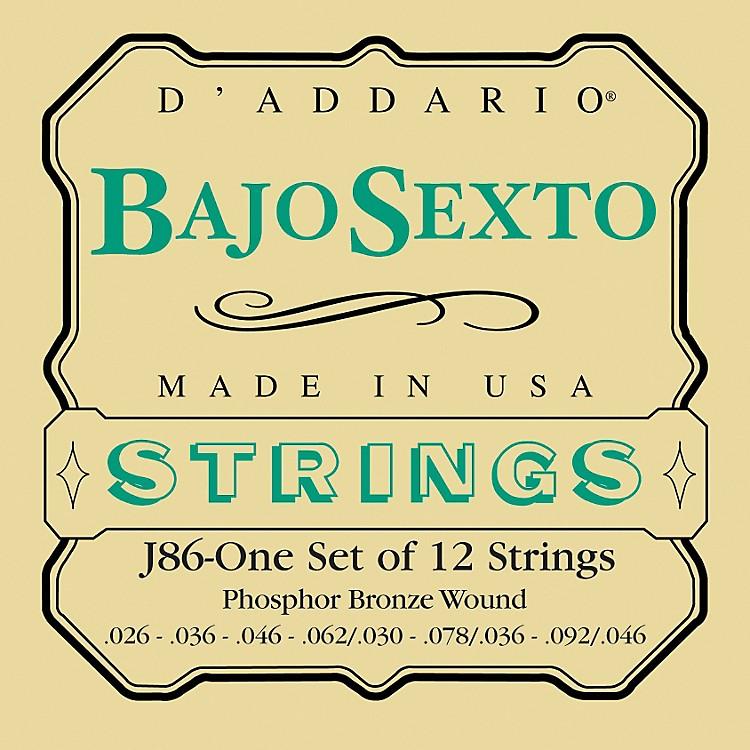 D'AddarioJ86 Phosphor Bronze Bajo Sexto 12-String Set