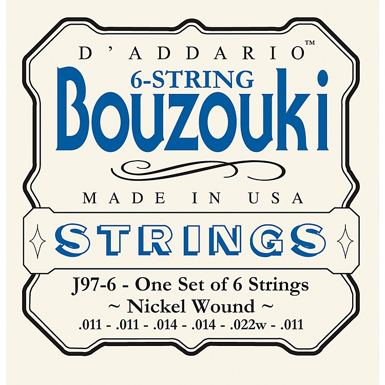 D'Addario J97-6 6-String Nickel Wound Greek Bouzouki Strings