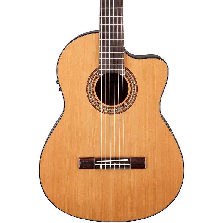Jasmine JC-27 Solid Top Cutaway Classical Guitar Natural