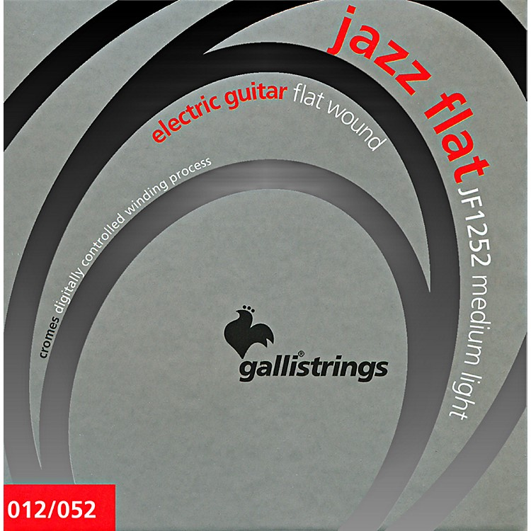 Galli Strings JF1252 JAZZ FLAT WOUND Medium Light Electric Guitar Strings 12-52