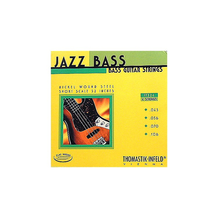 ThomastikJF324 Flatwound Short Scale 4-String Jazz Bass Strings