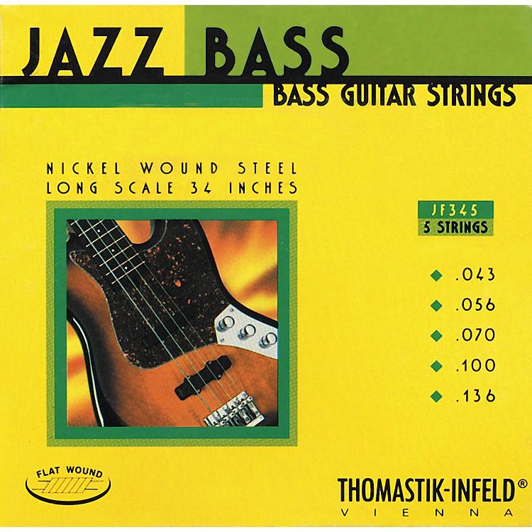 ThomastikJF345 Flatwound 5-String Jazz Bass Strings