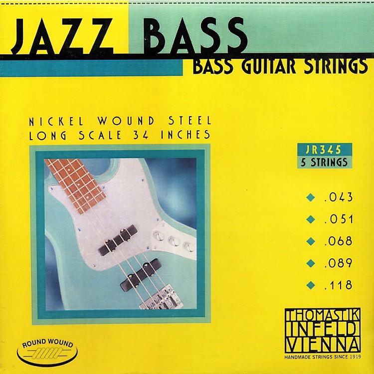 ThomastikJR345 Roundwound Scale 5-String Jazz Bass Strings
