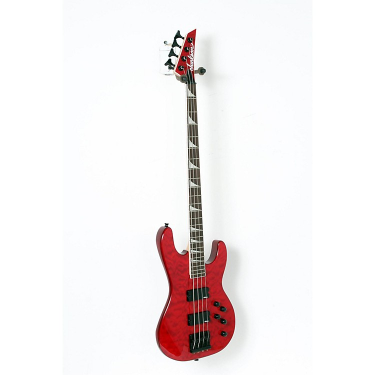 Jackson JS3 Concert Bass with Quilted Maple Top Transparent Red 888365852645