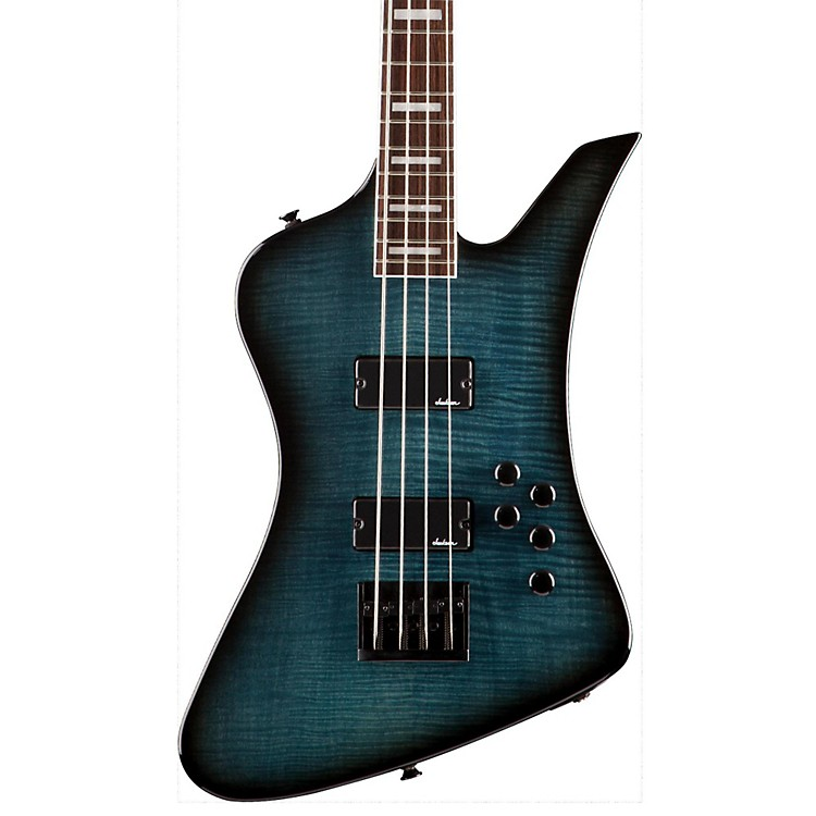 Jackson JS3 Kelly Bird IV Electric Bass Trans Blue Burst Rosewood Fingerboard