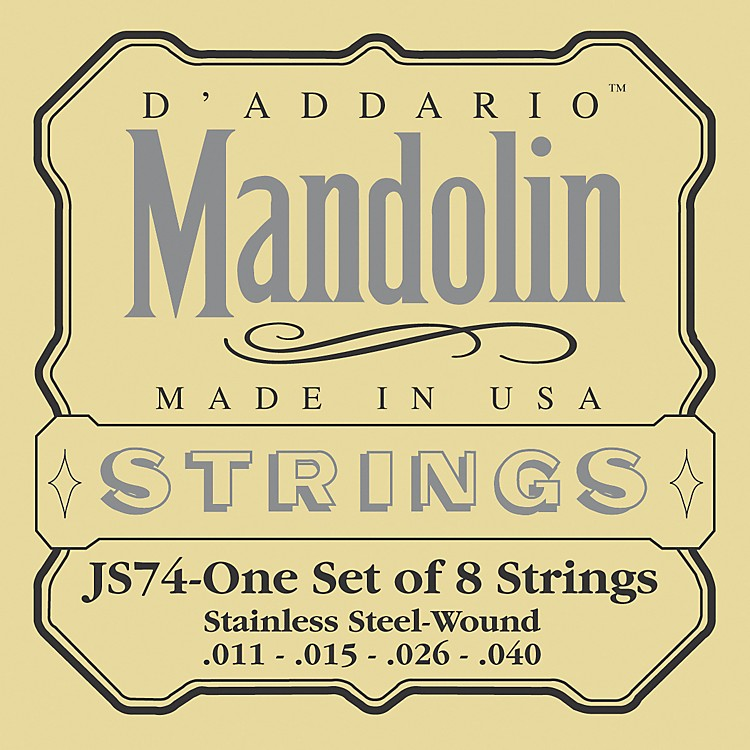 D'Addario JS74 Stainless Steel Mandolin Strings Medium