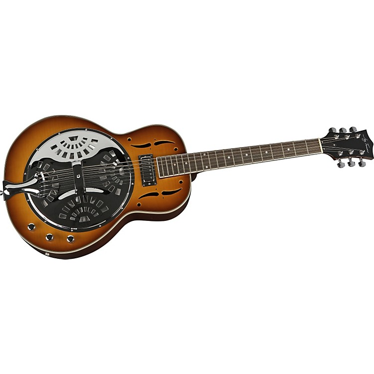 Jay Turser JT-900 Res Electric Resonator Guitar Tobacco Sunburst