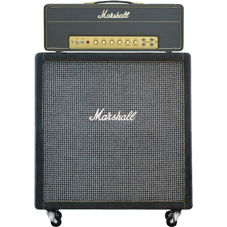 Marshall JTM45 and 1960AX Half Stack Angled