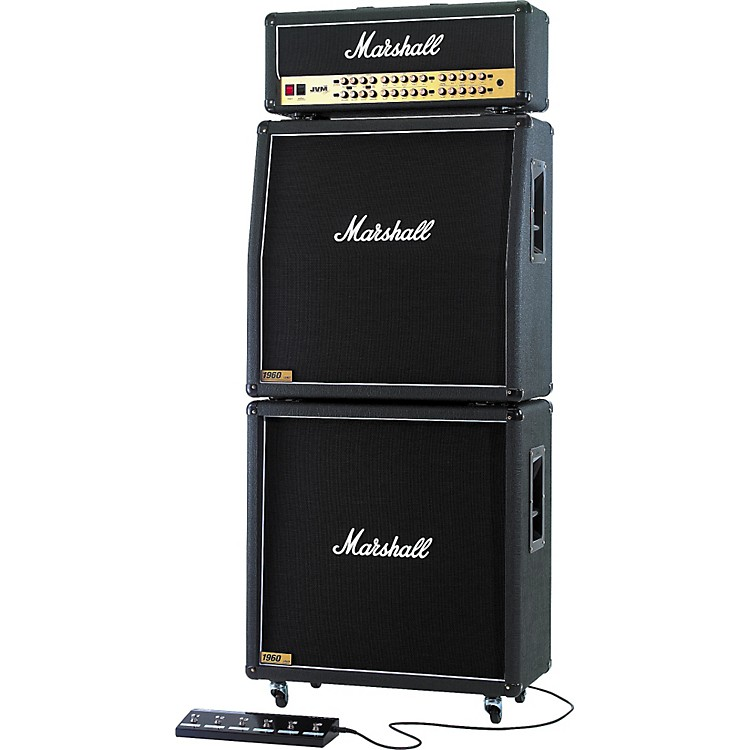 MarshallJVM410 Head with 1960A and 1960B Tube Guitar Full Stack Regular