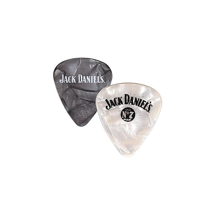 Peavey Jack Daniel's Pearloid Guitar Picks - One Dozen White Pearl Medium
