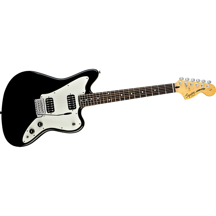 Squier Jagmaster Electric Guitar Black Rosewood Fretboard