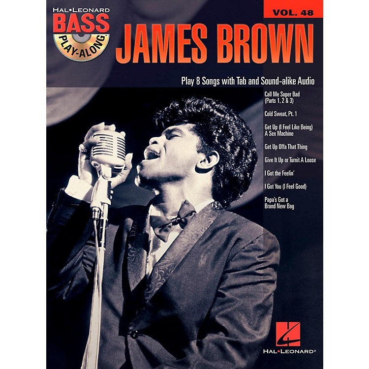 Hal Leonard James Brown - Bass Play-Along Volume 48 Book/CD