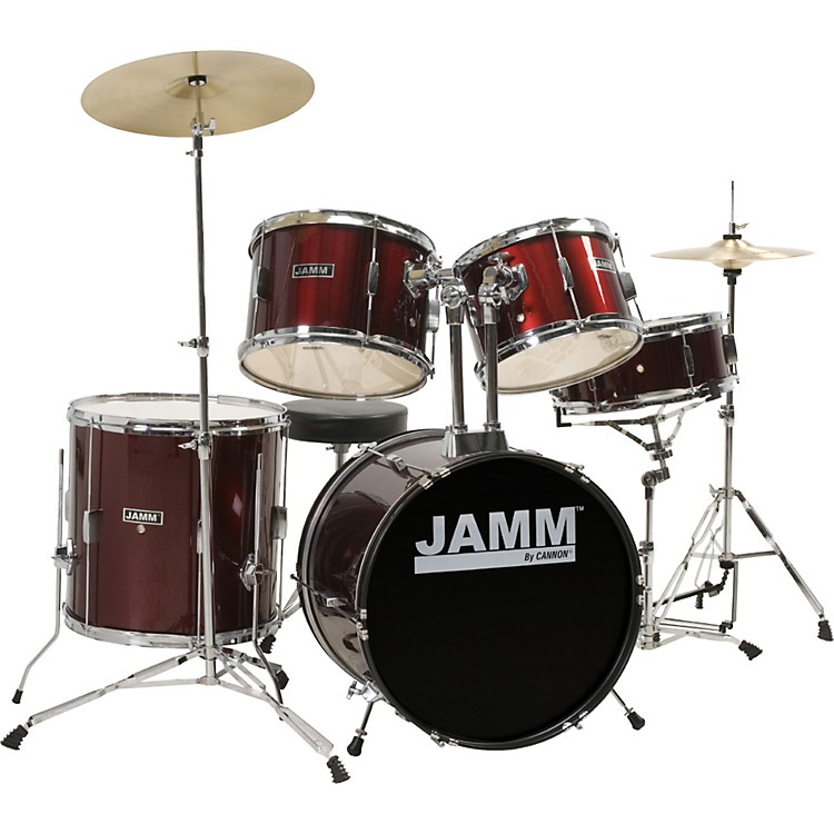 Cannon Percussion Jamm Club Series 5-Piece Jazz Drum Set Wine Red