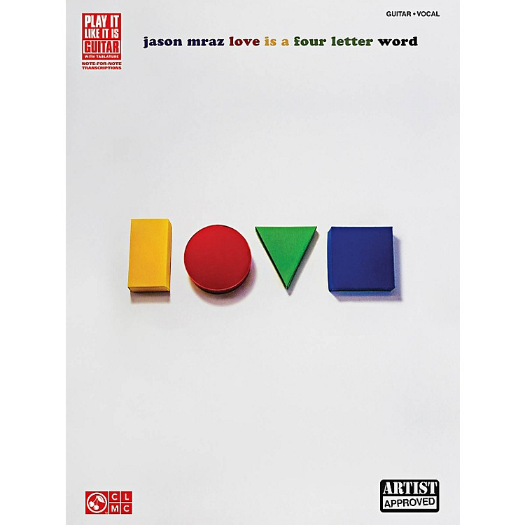 Cherry Lane Jason Mraz - Love Is A Four Letter Word Guitar Tab Songbook