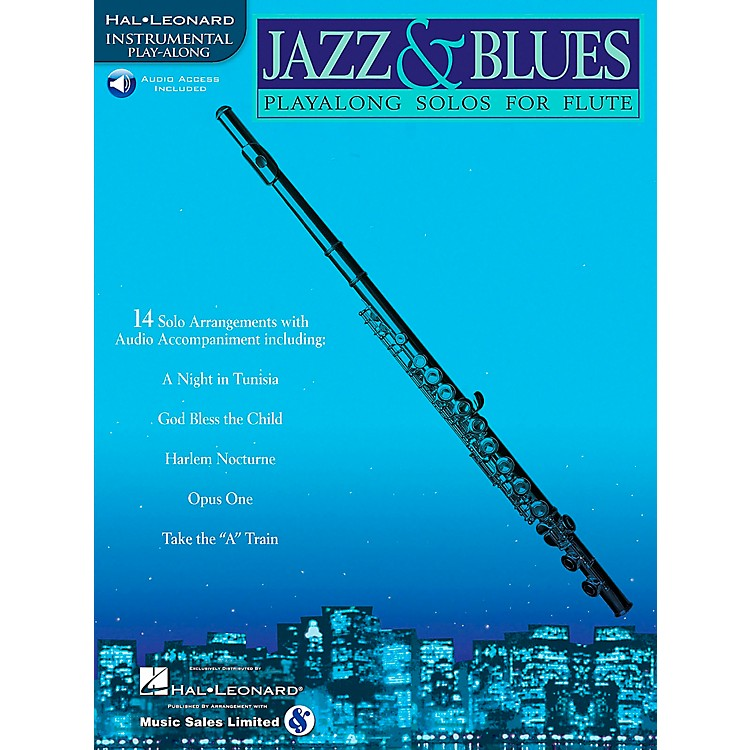 Hal LeonardJazz And Blues Playalong Solos for Flute Book/CD