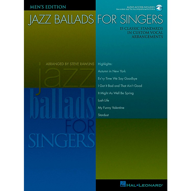 Hal Leonard Jazz Ballads for Singers - Men's Edition Book/CD