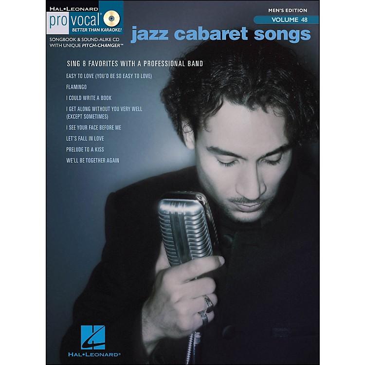 Hal LeonardJazz Cabaret Songs - Pro Vocal Series Vol. 48 for Male Singers Book/CD