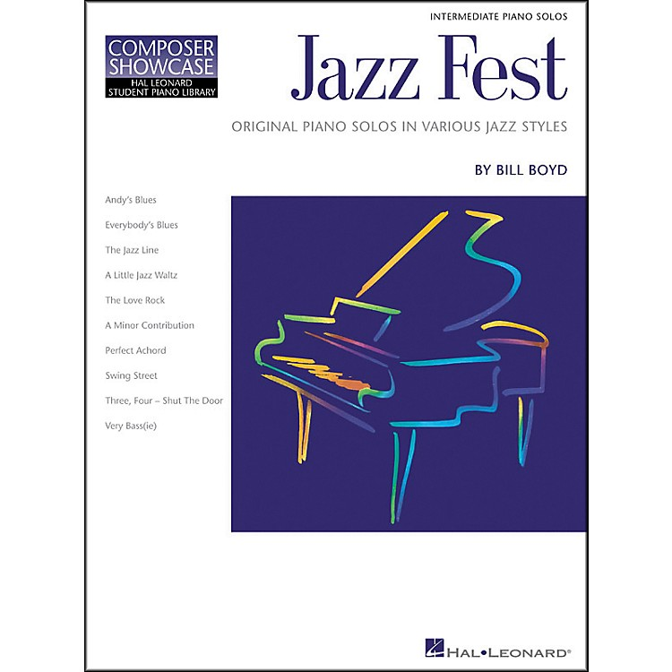 Hal Leonard Jazz Fest Intermediate Level Hal Leonard Student Piano Library by Bill Boyd