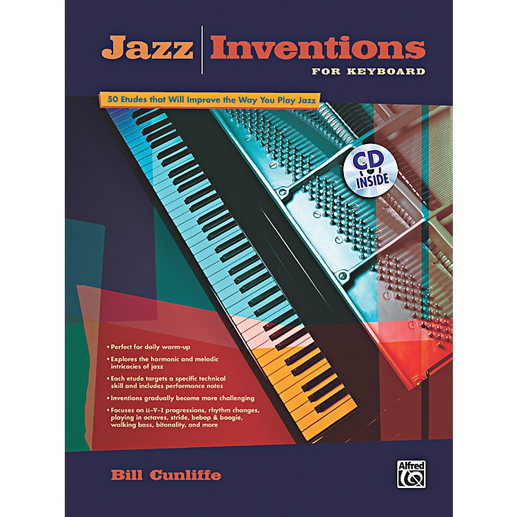 AlfredJazz Inventions for Keyboard Book & CD