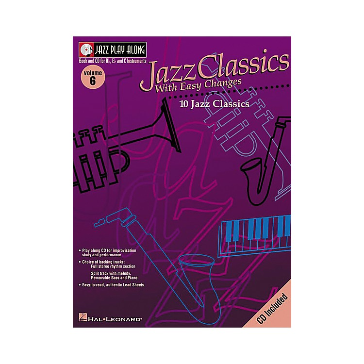 Hal LeonardJazz Play-Along Series Jazz Classics with Easy Changes Book with CD