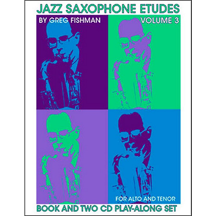 Jamey Aebersold Jazz Saxophone Etudes Vol. 3 Book and CDs