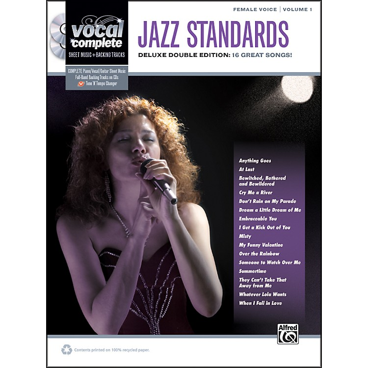 Alfred Jazz Standards Female Voice  - Book & 2 CDs