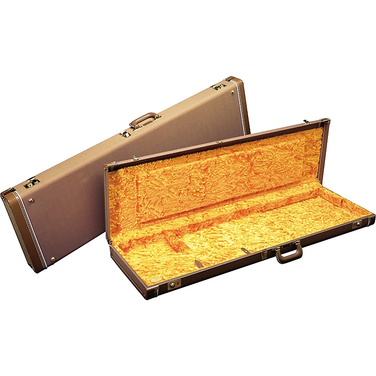 FenderJazzmaster Hardshell CaseBrownGold Plush Interior