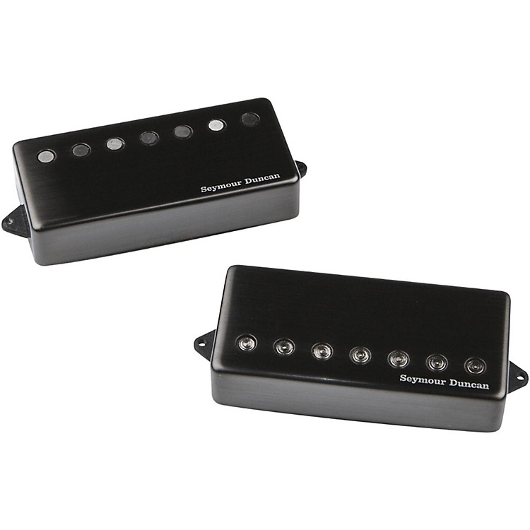 Seymour Duncan Jeff Loomis Blackouts 7-String Humbucker Guitar Pickup Set with Passive Mounts Black