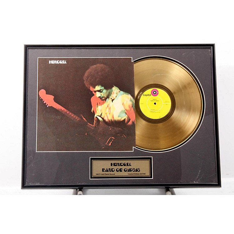 24 Kt. Gold Records Jimi Hendrix - Band of Gypsys Gold LP Limited Edition of 2500  888365395241