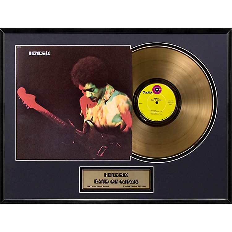24 Kt. Gold Records Jimi Hendrix - Band of Gypsys Gold LP Limited Edition of 2500