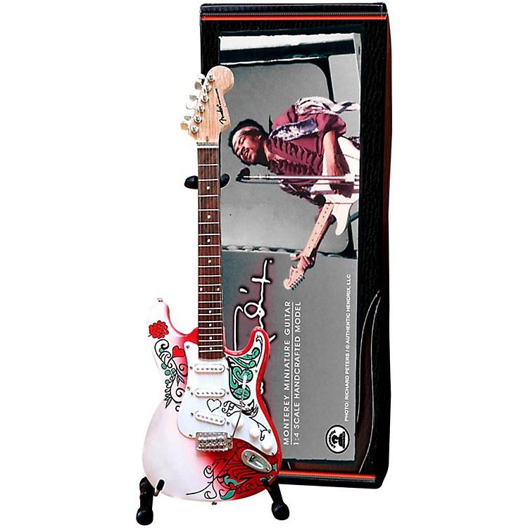 Axe HeavenJimi Hendrix Monterey Fender Stratocaster Miniature Guitar Replica Collectible