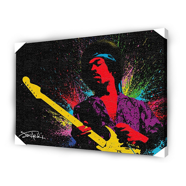 Ace Framing Jimi Hendrix Paint Framed Artwork