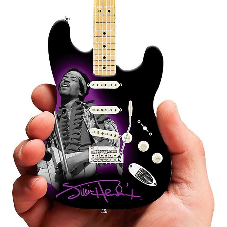 Axe HeavenJimi Hendrix Photo Tribute Fender Stratocaster Miniature Guitar Replica Collectible
