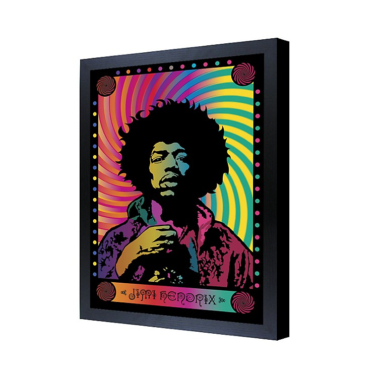 Ace FramingJimi Hendrix Psychedelic 3D Framed Poster