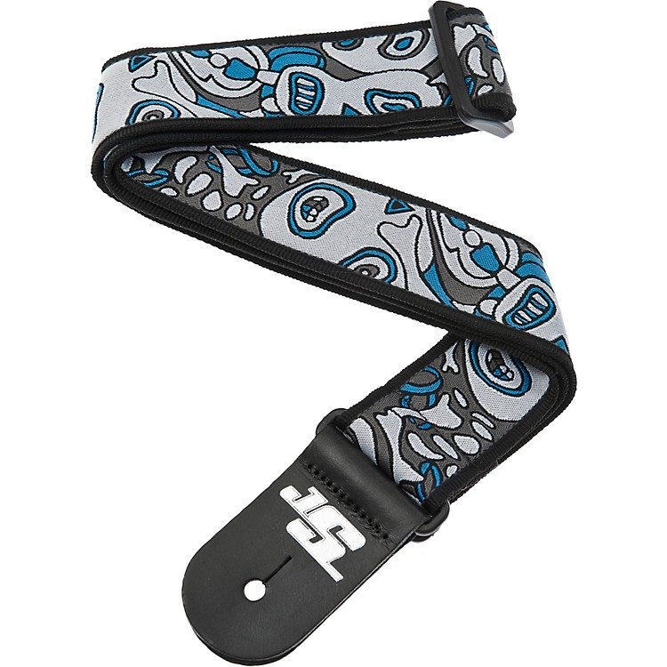 D'Addario Planet Waves Joe Satriani Nylon Guitar Strap Blue/White Souls of Distortion
