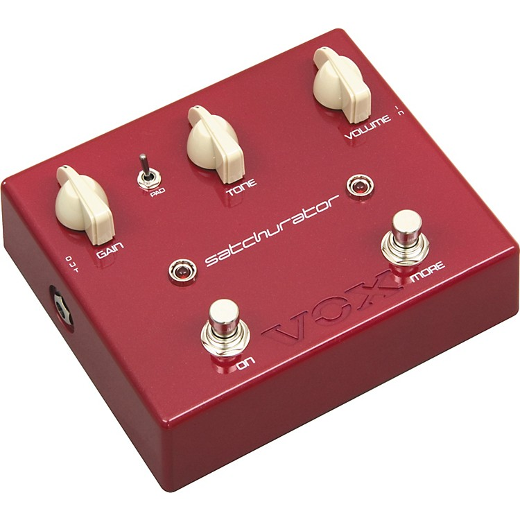 Vox Joe Satriani Satchurator Distortion Guitar Effects Pedal Red Metallic
