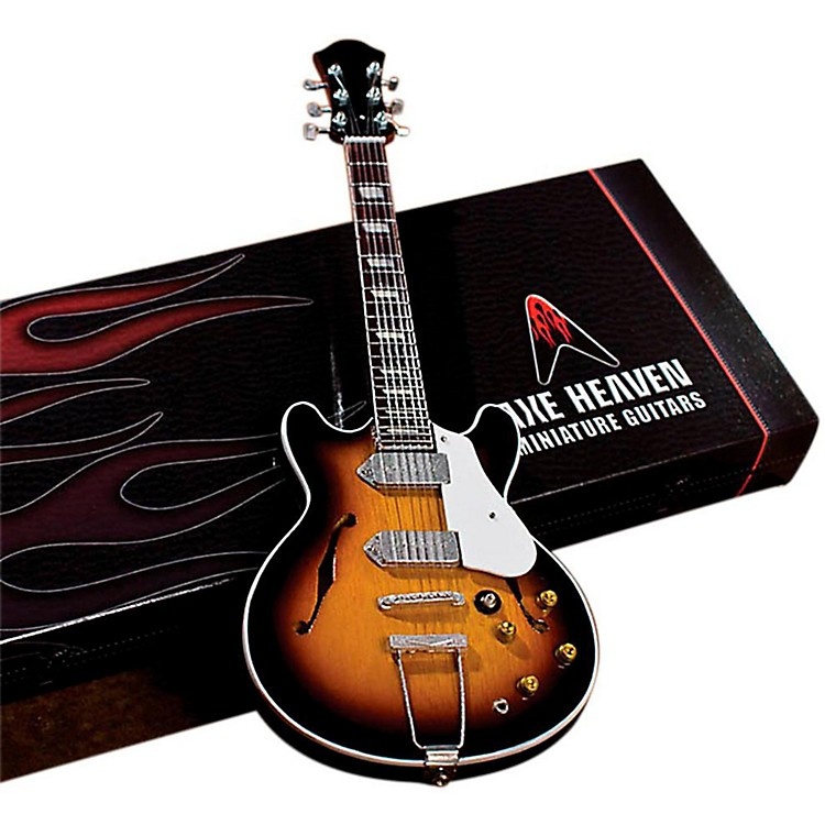 Hal Leonard John Lennon Classic 1965 Sunburst Casino Miniature Guitar Replica Collectible