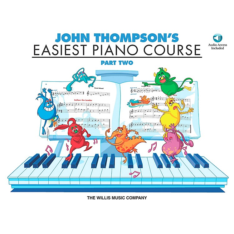 Willis MusicJohn Thompson's Easiest Piano Course Part 2 Book/CD