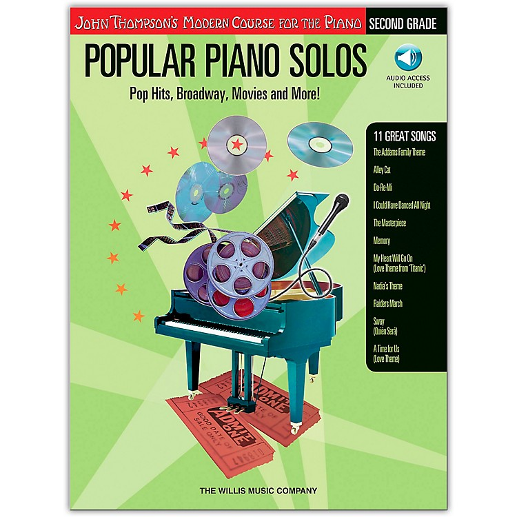 Willis Music John Thompson's Modern Course for Piano - Popular Piano Solos Grade 2 Book/CD