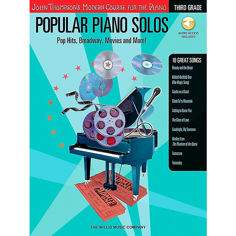Willis Music John Thompson's Modern Course for Piano - Popular Piano Solos Grade 3 Book/CD